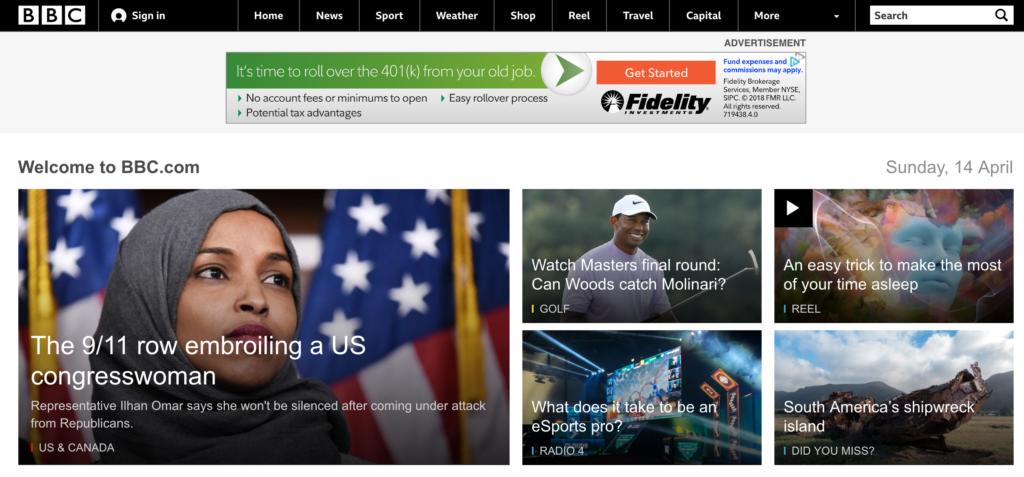 英語リスニングおすすめの無料サイト『BCC News』