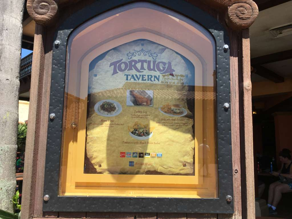Tortuga Tarvenのメニュー